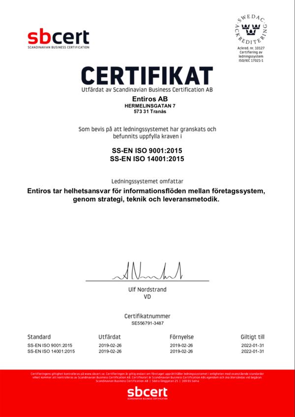 Entiros-ISO9001-ISO14001